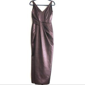 J. Mendel Gorgeous Pleated Tulip Evening Gown